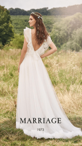 Marriage Bride Collection 2022 Scarlett back